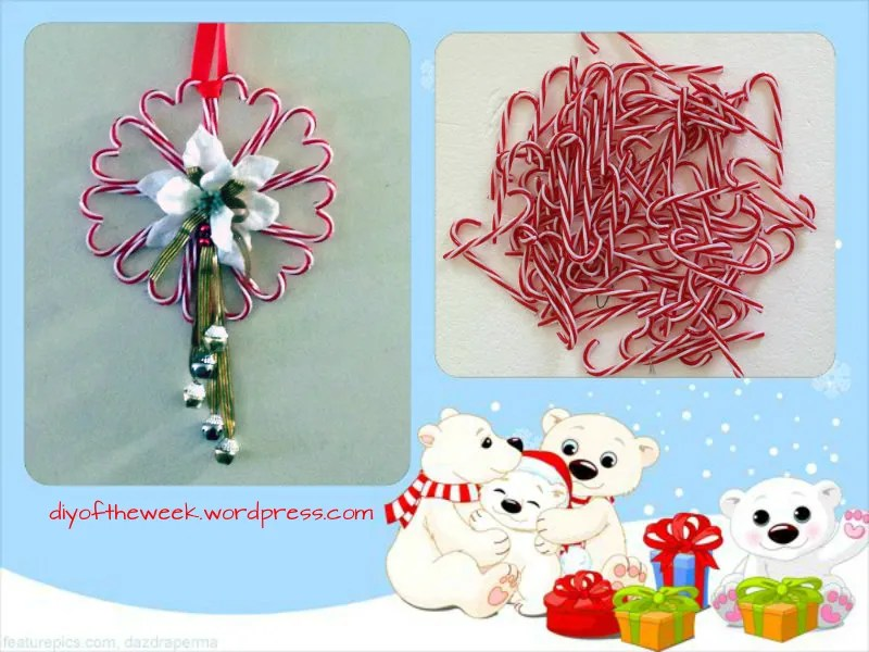 candy cane wreath diy