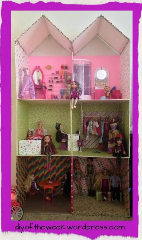 foam board dollhouse