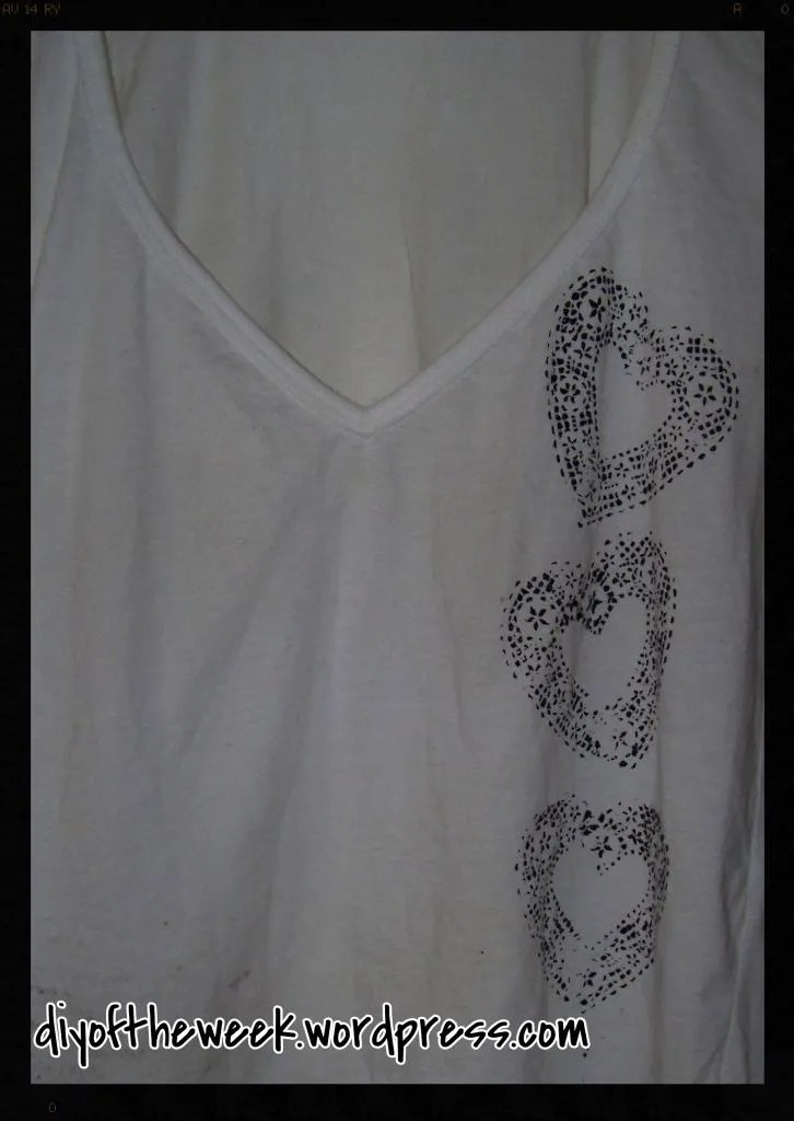 diy doily shirt