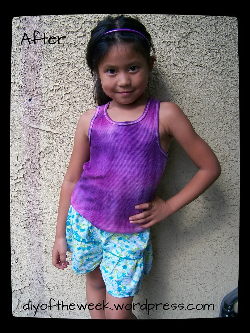 tie dye, refashion short