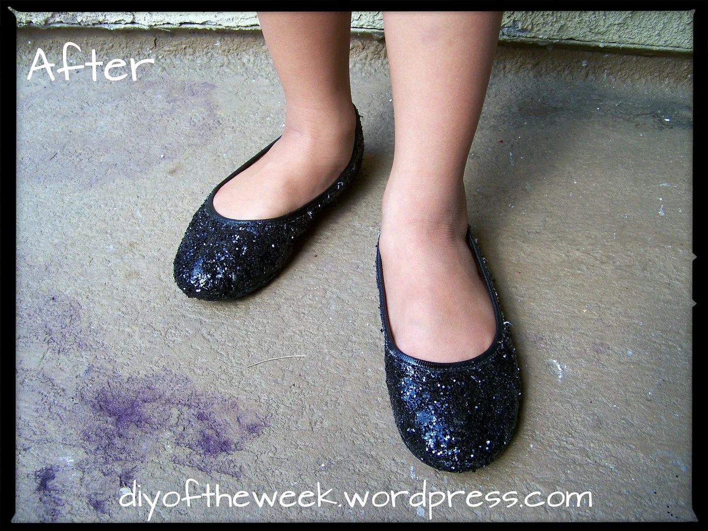 refashion glitter shoes