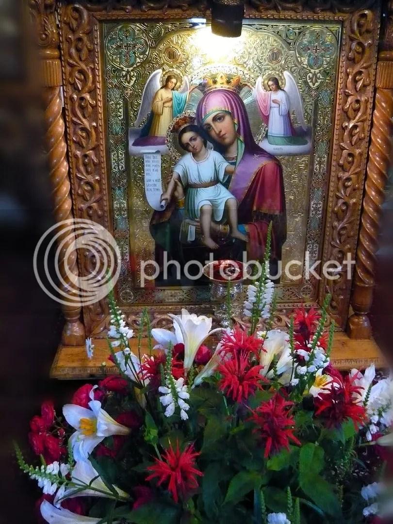 Icoana Maicii Domnului cu Pruncul Iisus de la Manastirea Crasna (Prahova)