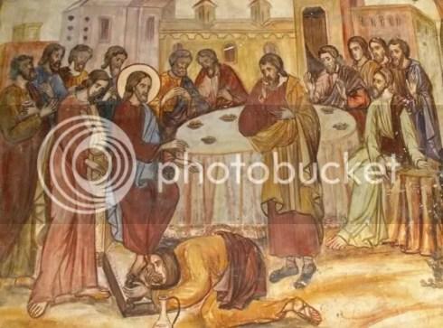 Pocăinţa Mariei Magdalena (fresca Mănăstirea Antim)