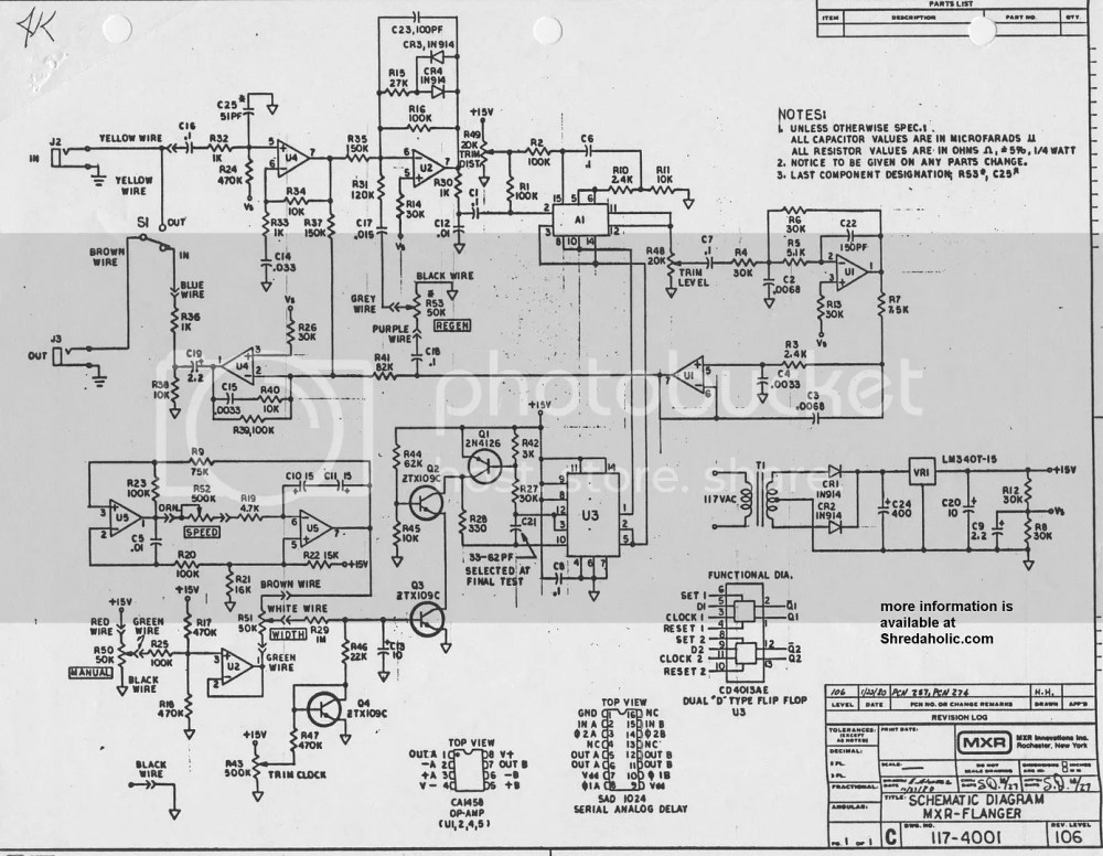 medium resolution of mxr pre amp wiring diagram wiring library ricerche correlate a guitar octave pedal schematic