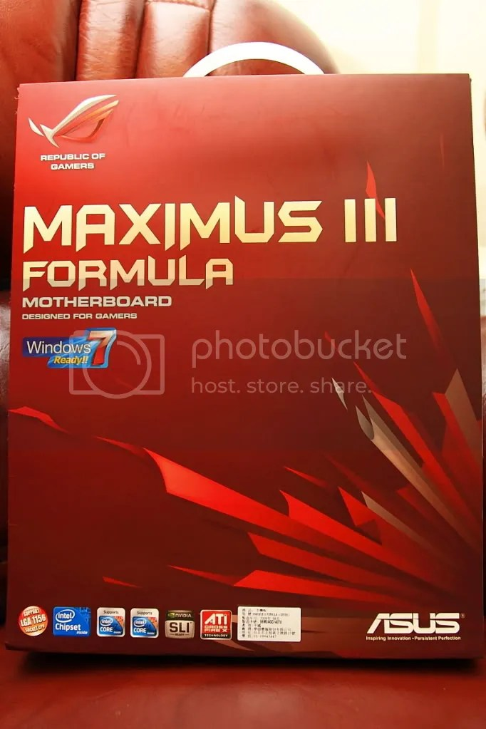 敗家組合...MAXIMUS III FORMULA+I7-860 - 滄者極限