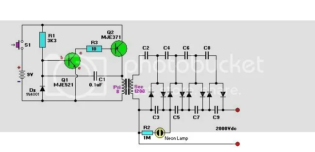 Mosquito Zapper Circuit Diagram