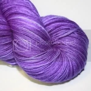 semi solid violet sock yarn