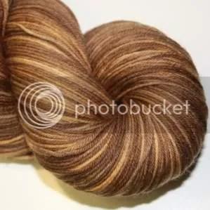 semi solid walnut sock yarn