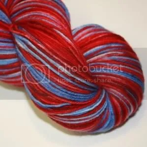 4ply sock dd red and blue