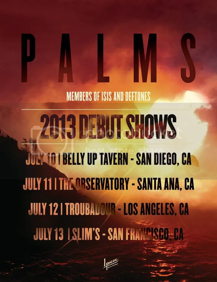 Palms tour poster