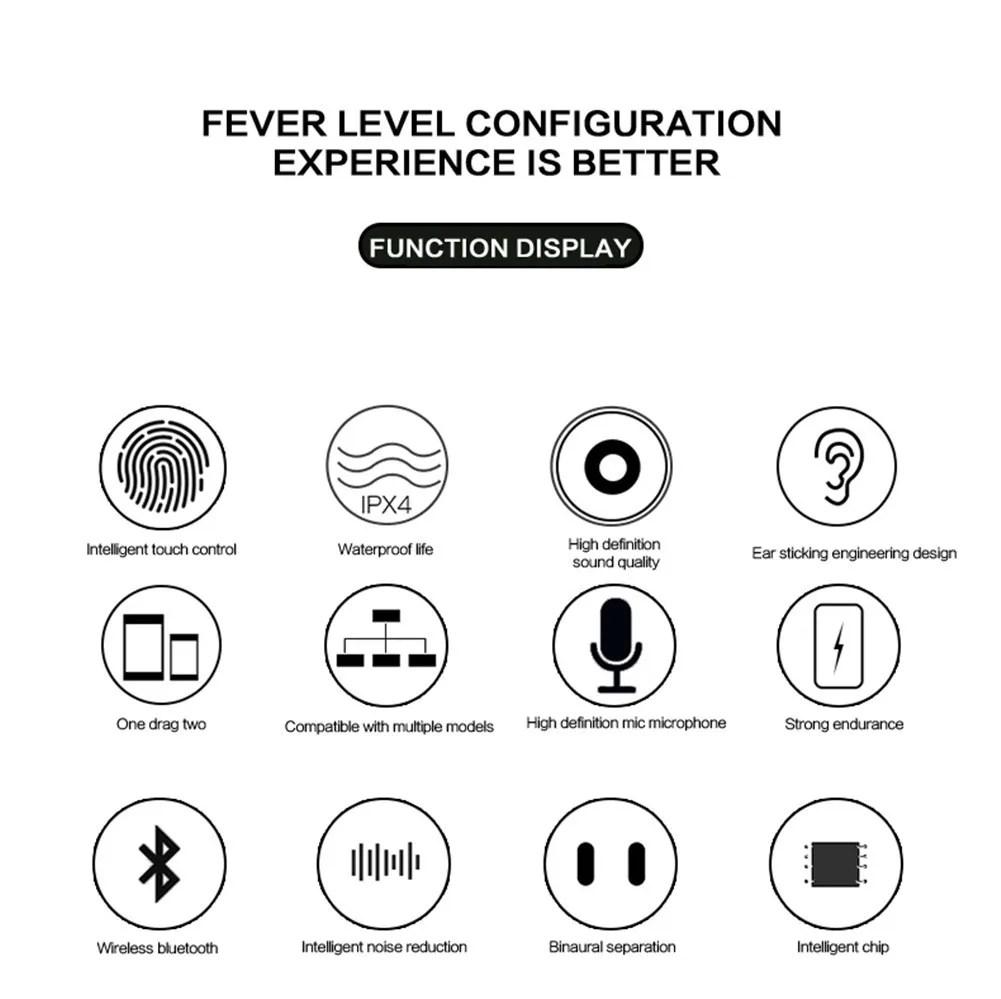 Bluetooth Headset TWS Earbuds Twins In Ear Earphone for