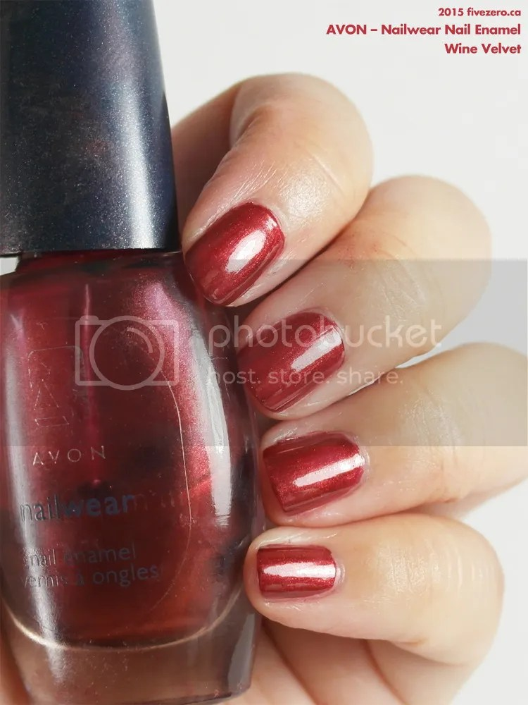 Avon Nailwear Nail Enamel in Wine Velvet, swatch