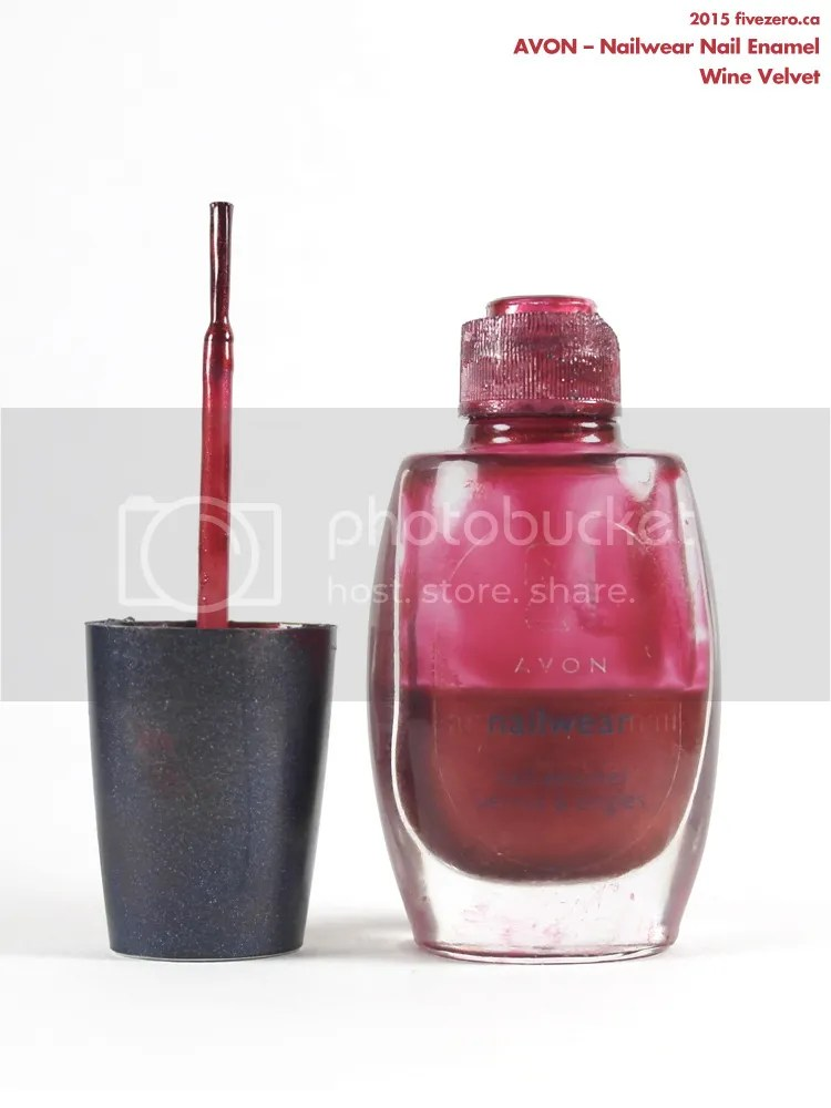 Avon Nailwear Nail Enamel in Wine Velvet, broken