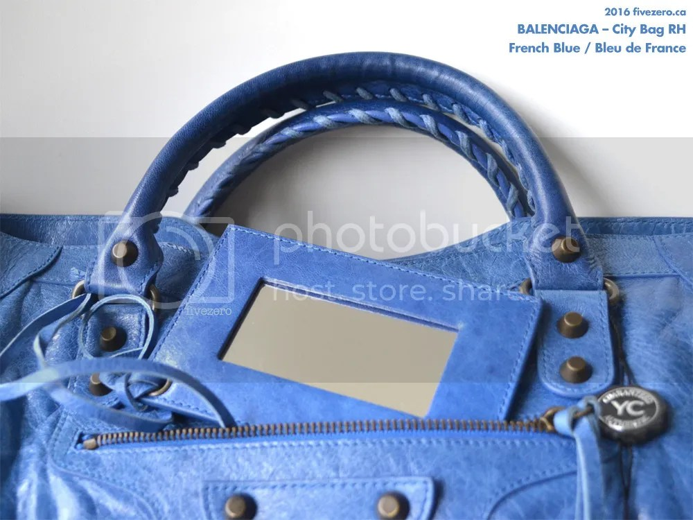 Balenciaga RH City Bag in French Blue / Bleu de France 2007, mirror