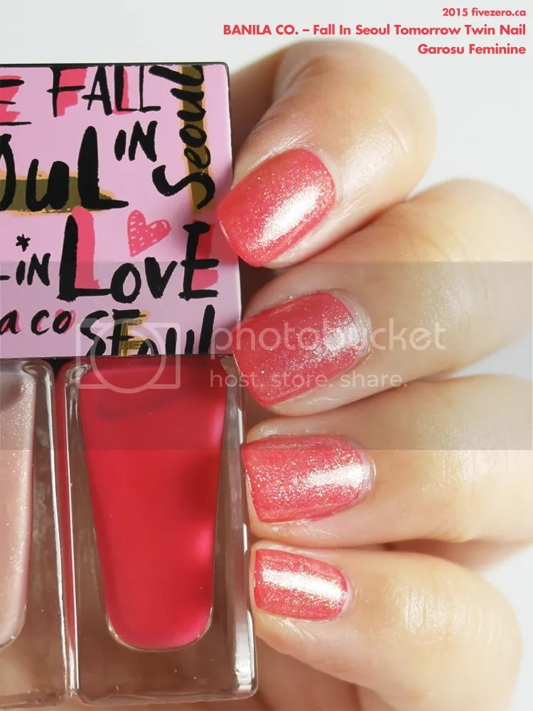 Banila Co. Fall in Love Tomorrow Twin Nail in Garosu Feminine, layer & swatch