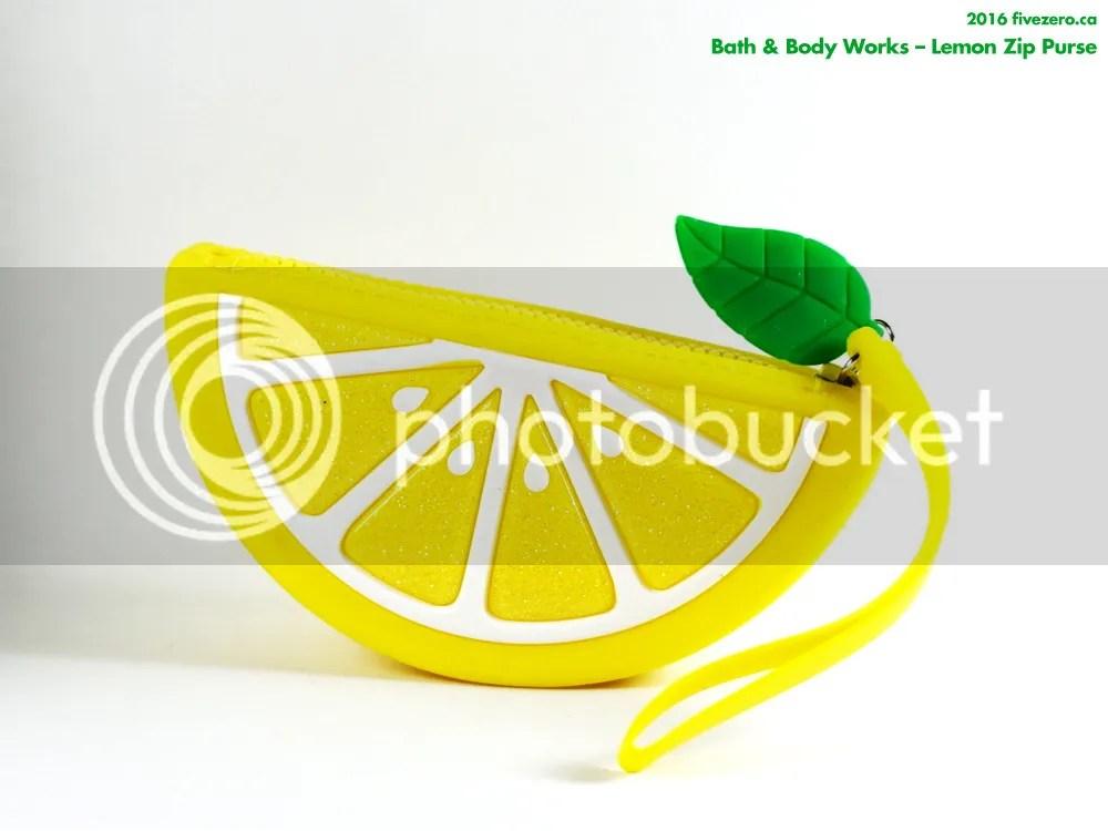 Bath & Body Works lemon zip purse