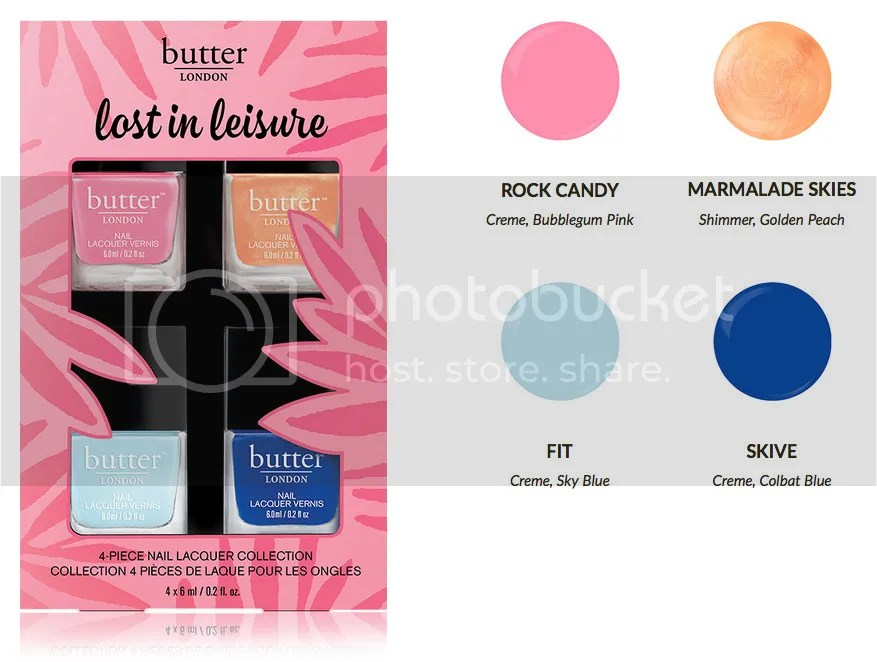 butter LONDON Lost in Leisure Nail Lacquers Fashion-Sized Set