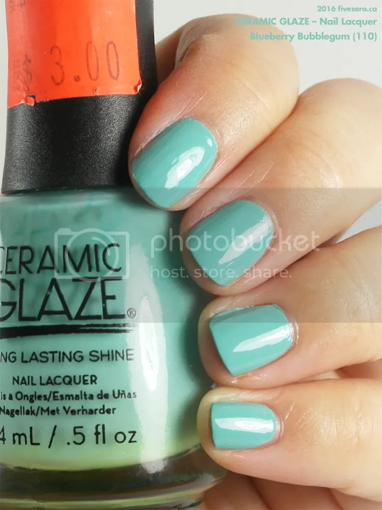 Ceramic Glaze Nail Lacquer in Blueberry Bubblegum, swatch