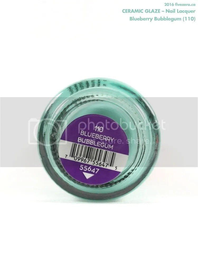 Ceramic Glaze Nail Lacquer in Blueberry Bubblegum, label