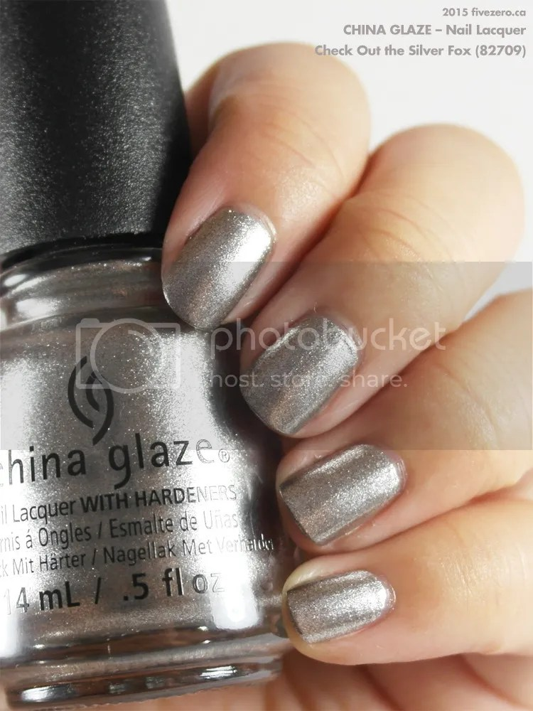 China Glaze Nail Lacquer in Check Out the Silver Fox, swatch