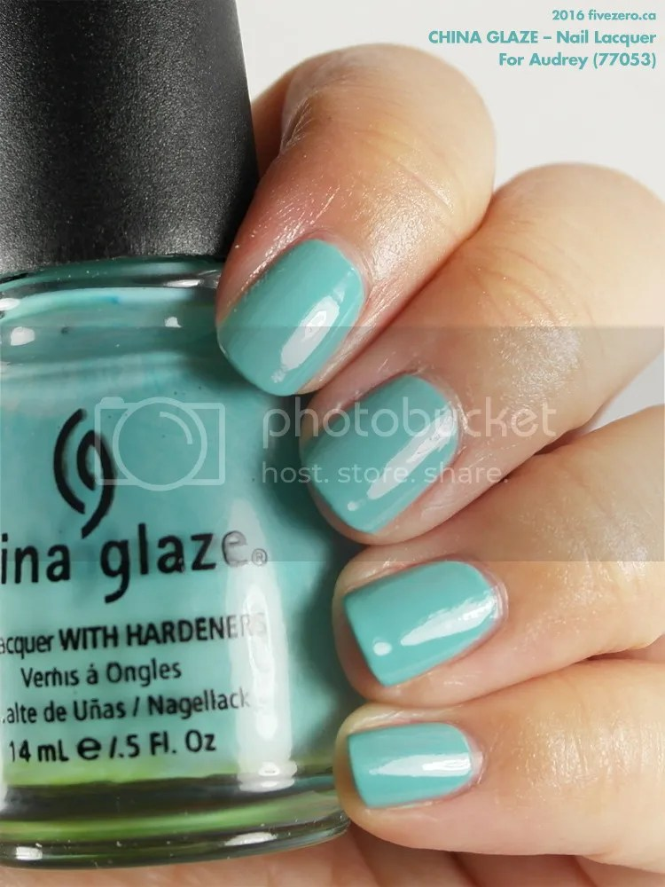 China Glaze Nail Lacquer in For Audrey, swatch