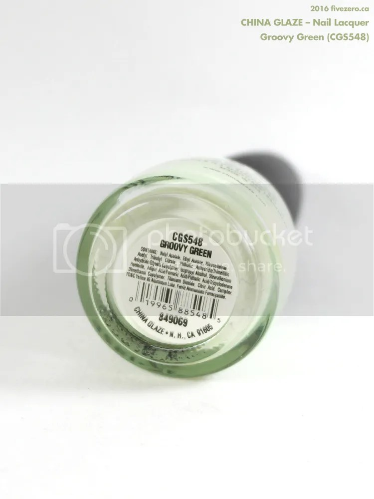 China Glaze Nail Lacquer in Groovy Green, label