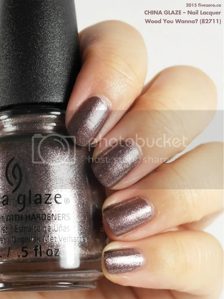 China Glaze Nail Lacquer in Wood You Wanna?, swatch