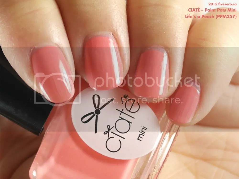 Ciaté Paint Pots Mini in Life's a Peach, swatch