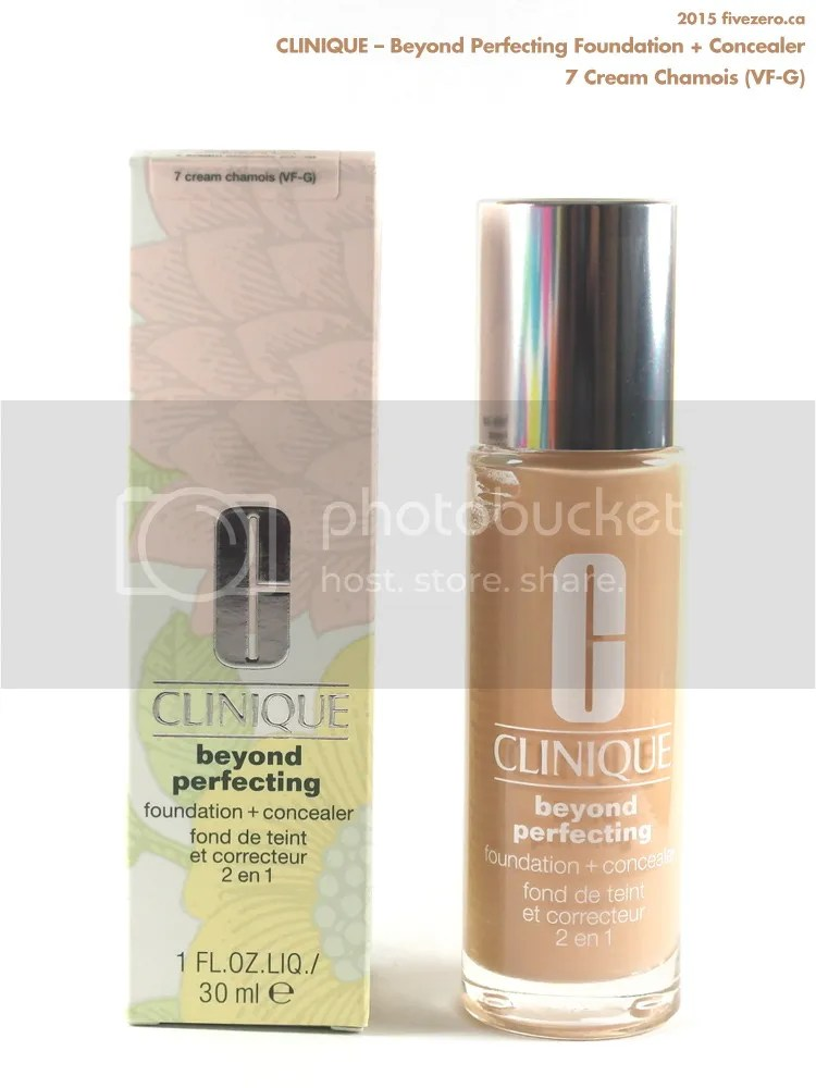 Clinique, Beyond Perfecting Foundation + Concealer in 7 Cream Chamois (VF-G)