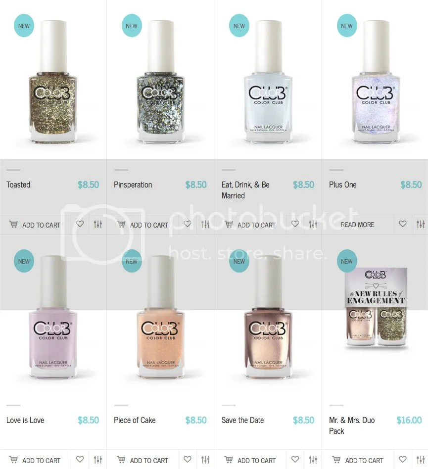 Color Club The New Rules of Engagement Spring 2016 Bridal Collection