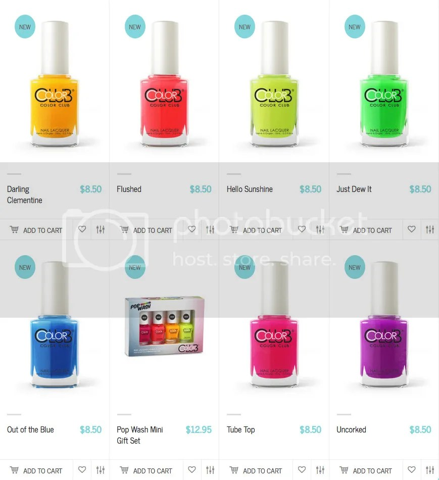 Color Club Pop Wash Summer 2016 Collection
