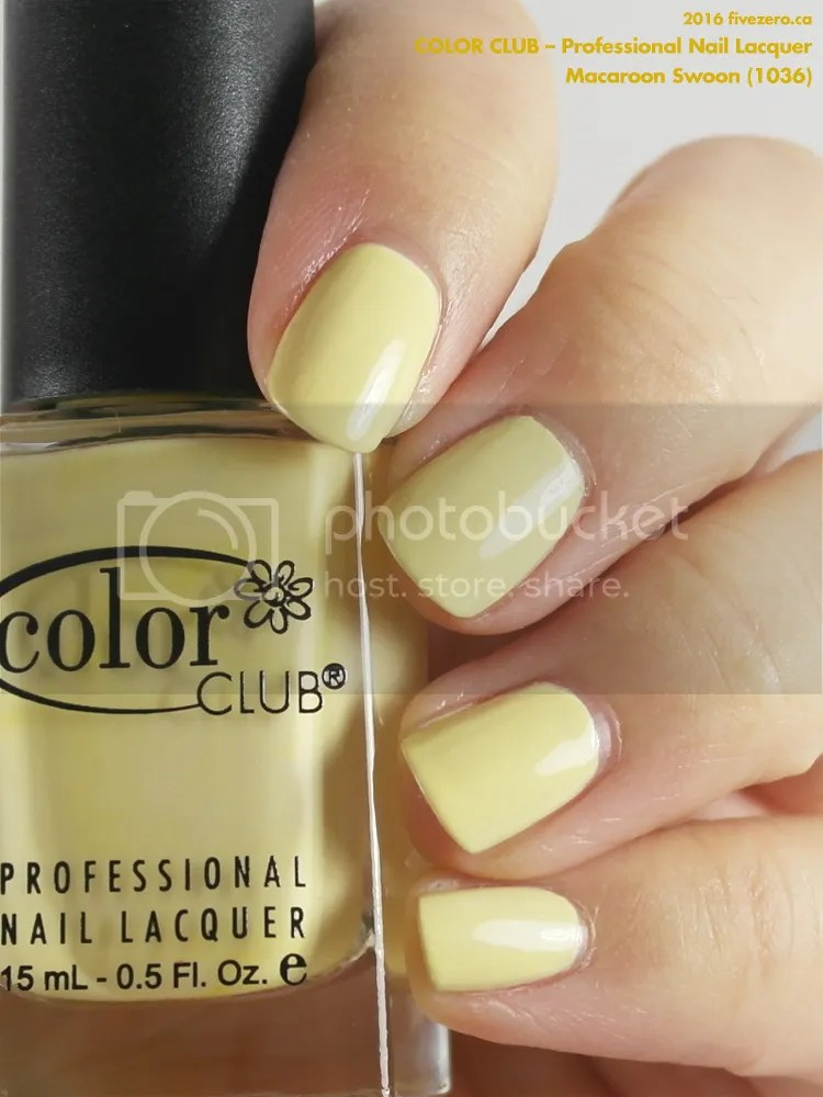 Color Club Professional Nail Lacquer in Macaroon Swoon, swatch