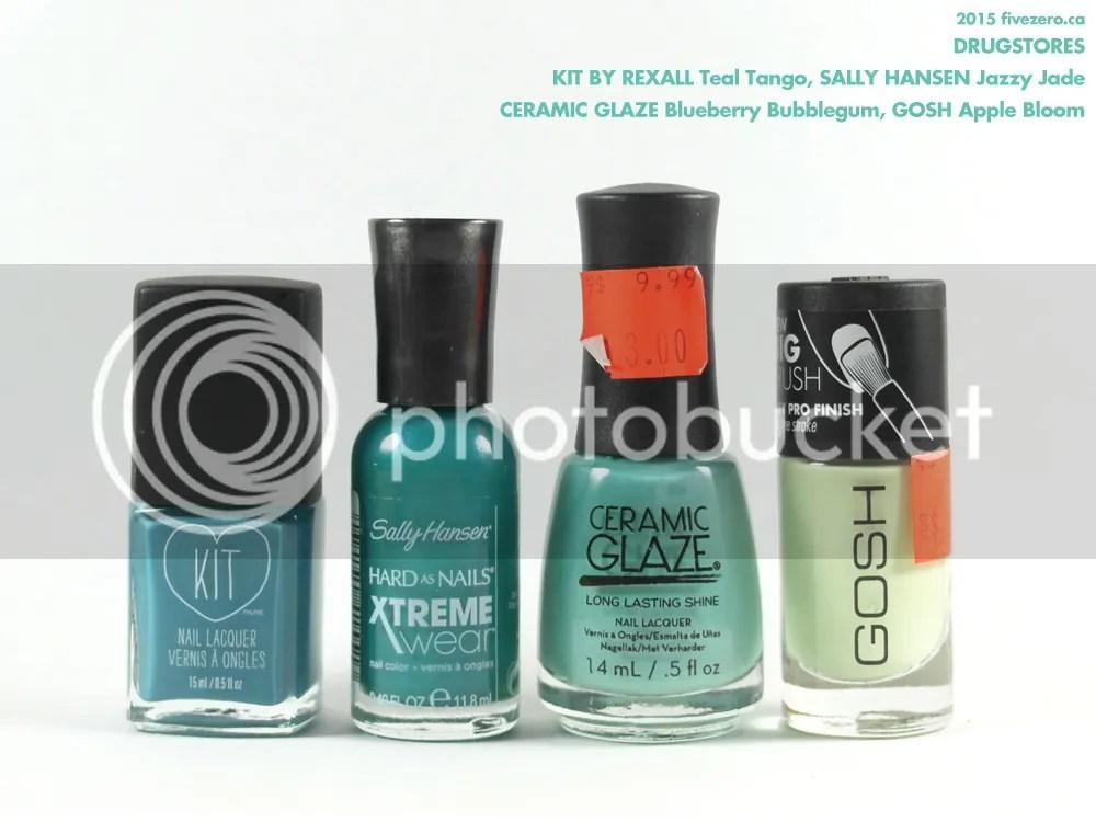 Drugstore haulage, KIT by Rexall, Sally Hansen, Ceramic Glaze, GOSH nail polish