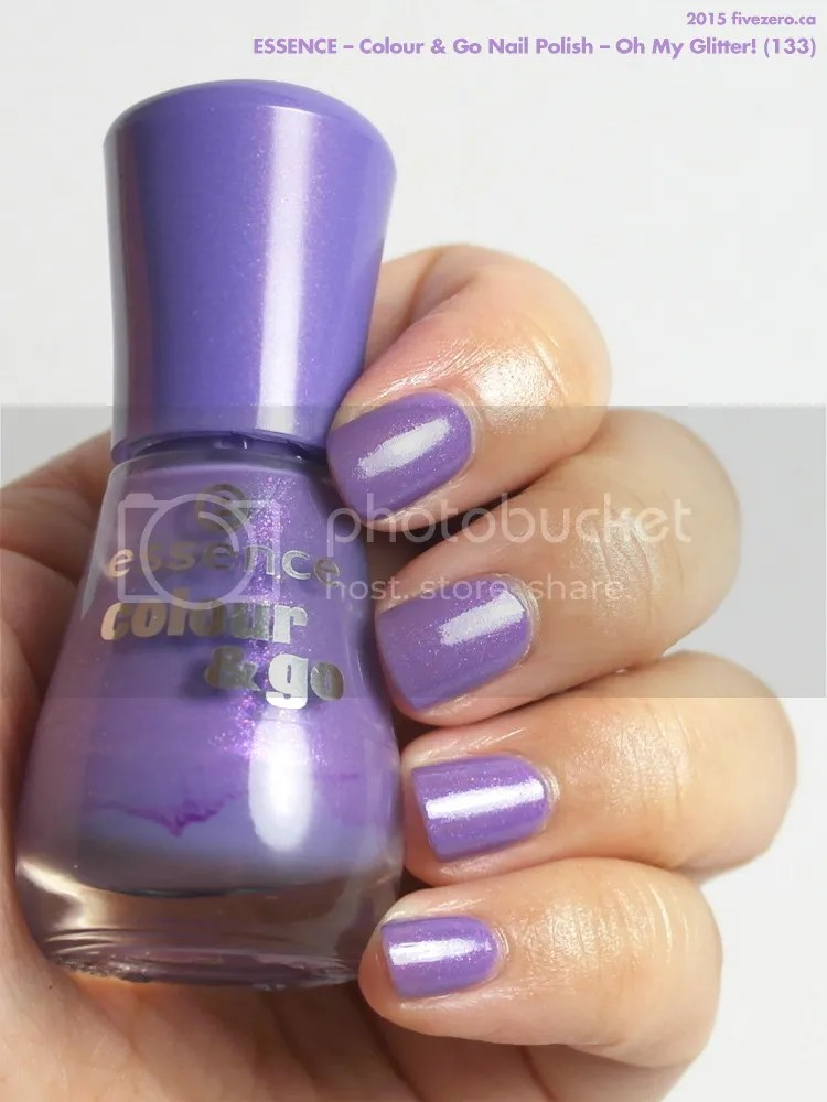 Essence Colour & Go Nail Polish in Oh My Glitter!, swatch