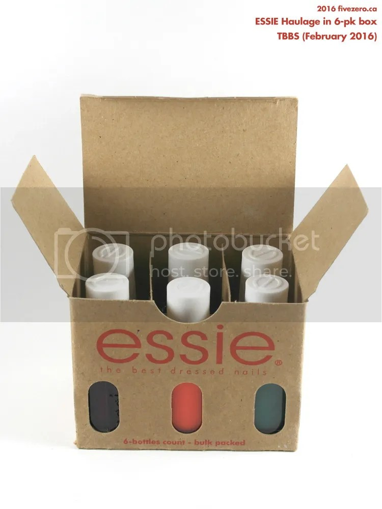 Essie Nail Polish Haulage from Toronto Barber & Beauty Supply, in nail polish 6-pack box, February 2016