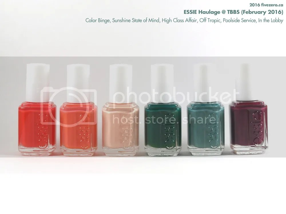 Essie Nail Polish Haulage from Toronto Barber & Beauty Supply, February 2016