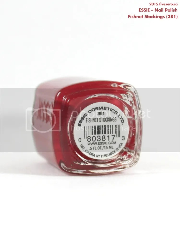 Essie Nail Polish in Fishnet Stockings, label