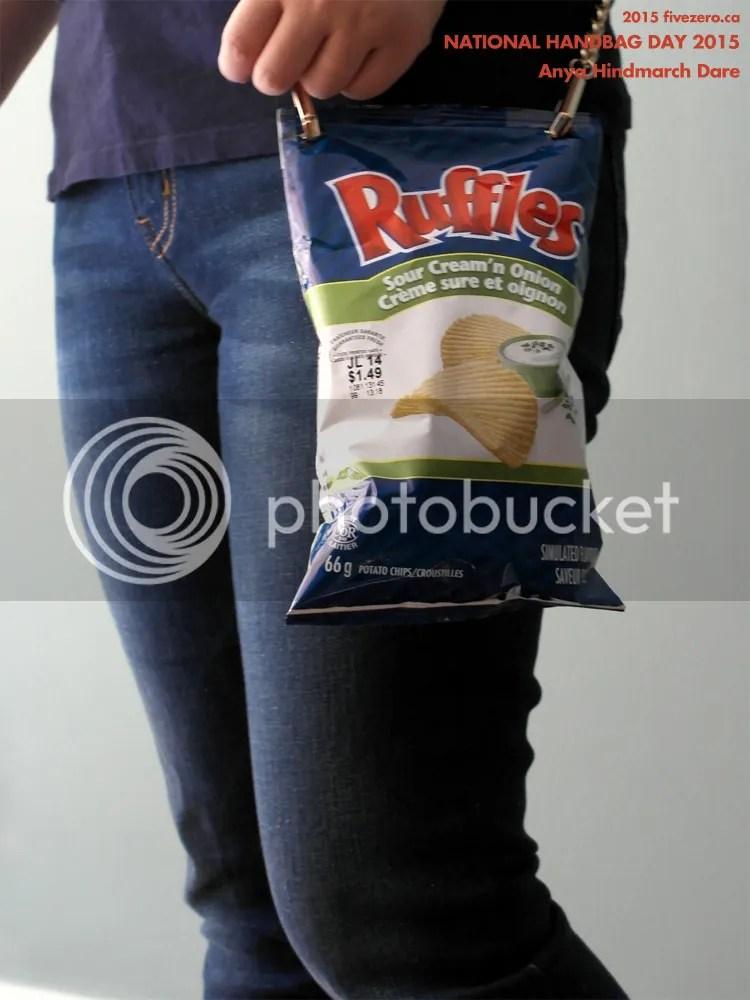 fivezero's DIY Anya Hindmarch potato chip bag