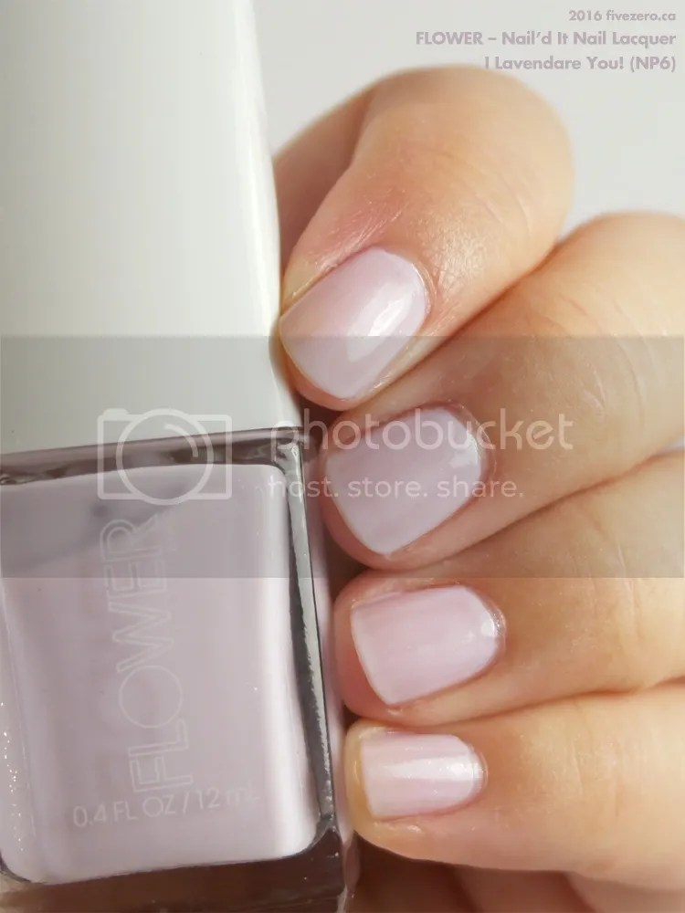 Flower Nail'd It Nail Lacquer in I Lavendare You!, swatch