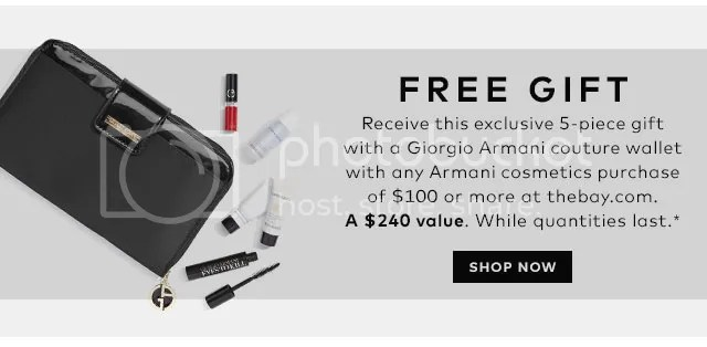 Giorgio Armani Beauty GWP at Hudson's Bay, August 2015