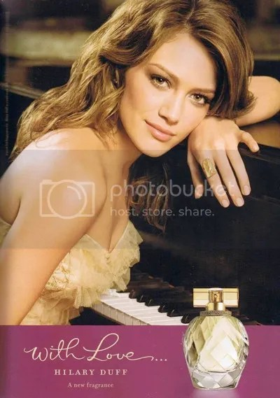 With Love by Hilary Duff, print ad