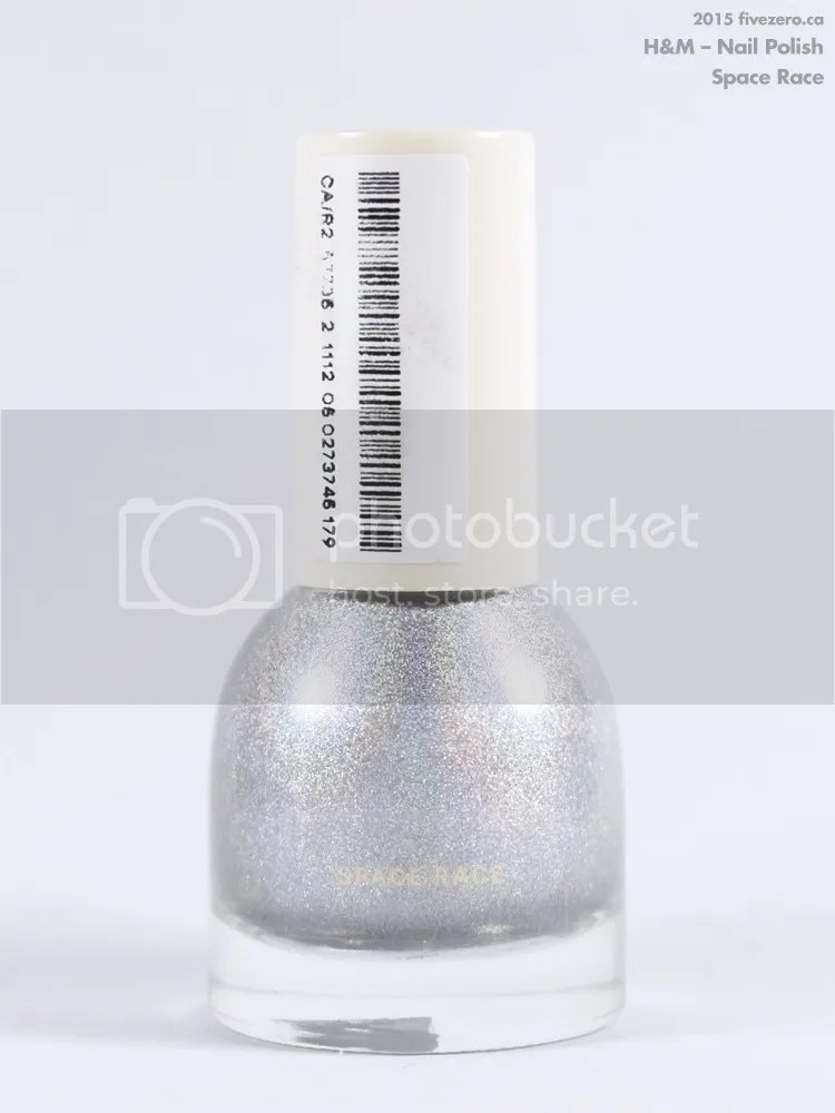H&M Nail Polish in Space Race, label