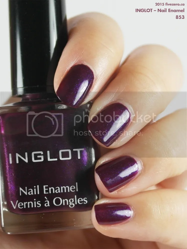 Inglot Nail Enamel in 853, swatch