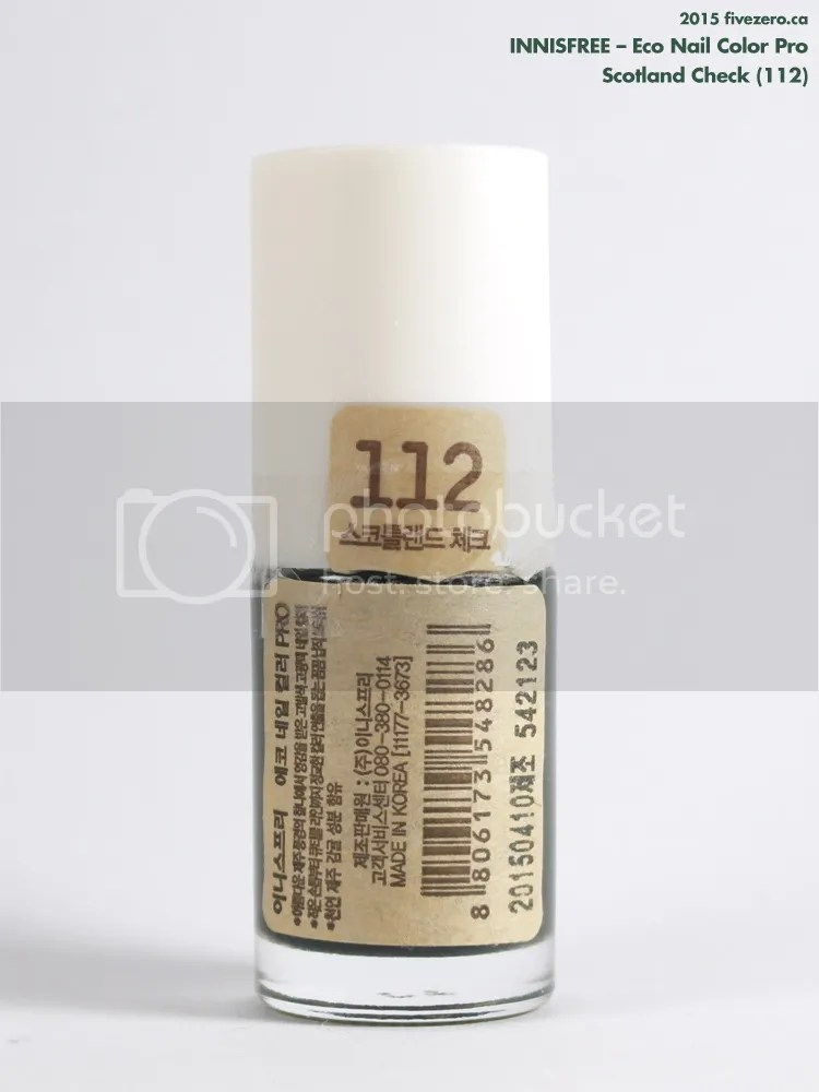 Innisfree Eco Nail Color Pro in Scotland Check, label