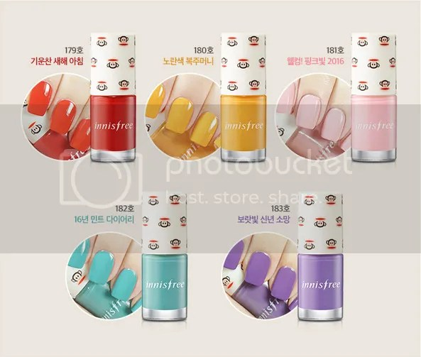 Innisfree Paul Frank Happy Monkey, 2016 Spring Collection with Eco Nail Color Pro