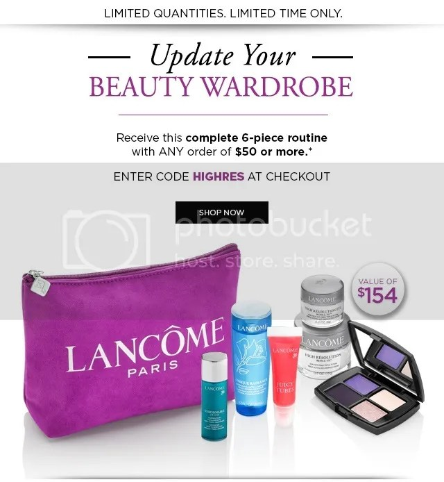 Lancome Canada GWP, August 2015