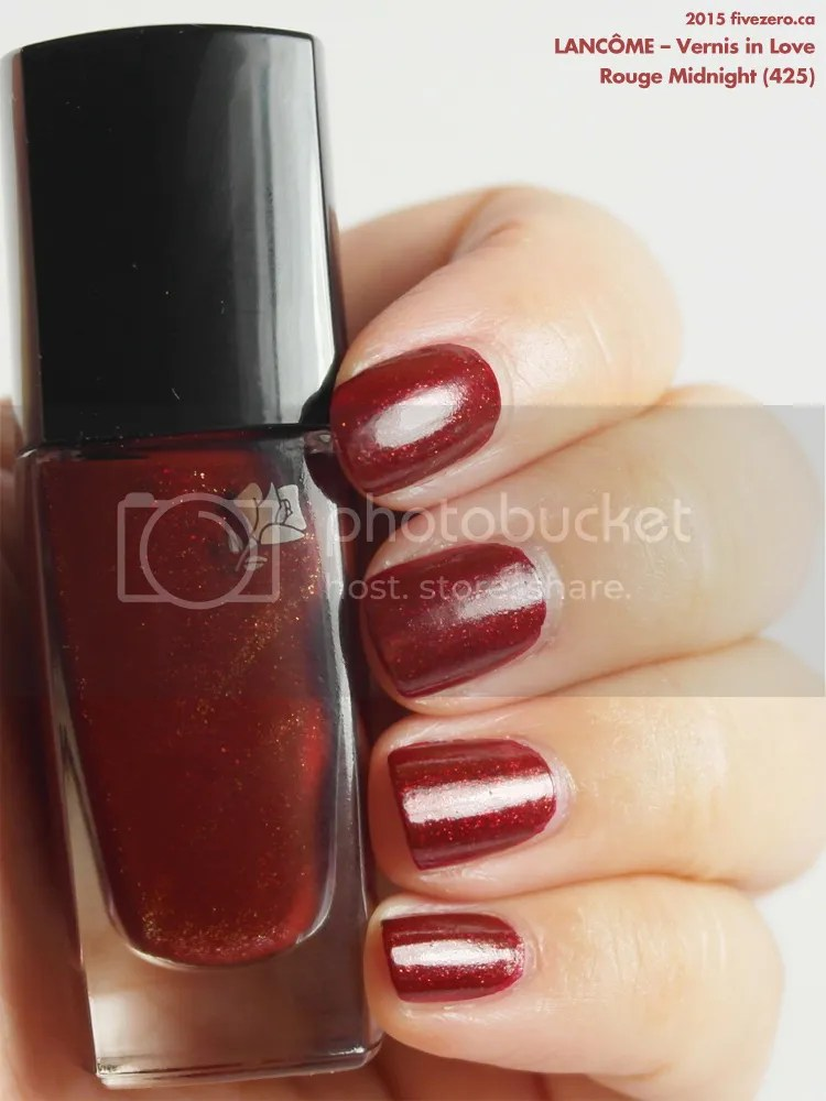 Lancôme Vernis in Love in Rouge Midnight (425), swatch