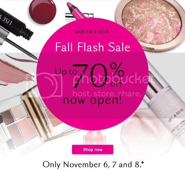 Lise Watier Fall Flash Sale 2015