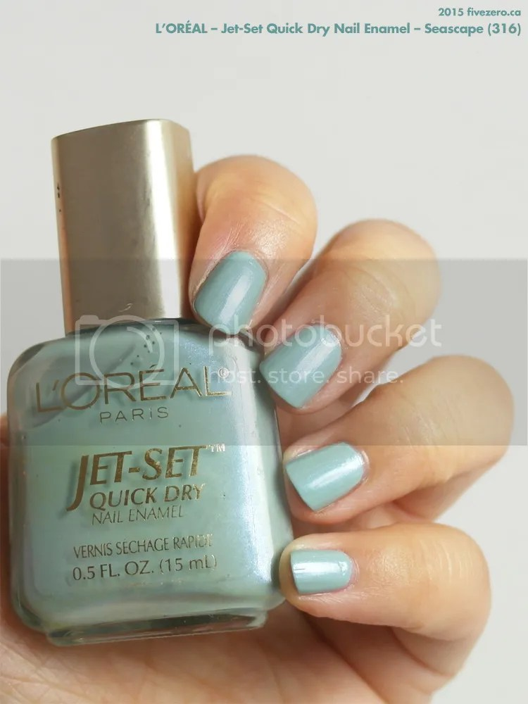 L'Oréal Jet-Set Quick Dry Nail Enamel in Seascape, swatch