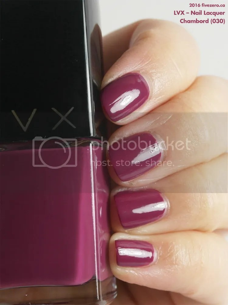 LVX Nail Lacquer in Chambord, swatch